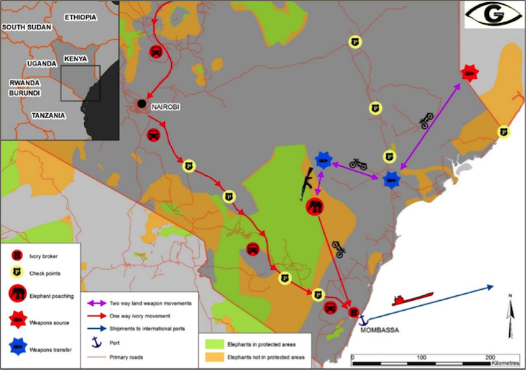 Pushing Ivory Out Of Africa - map