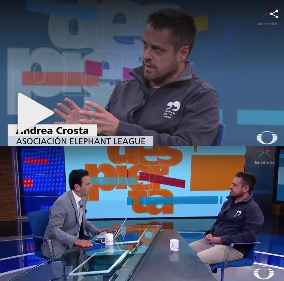 Carlos Loret and Andrea Crosta